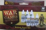 VAL70153 WWII Wargames - British Paint Set (x6)